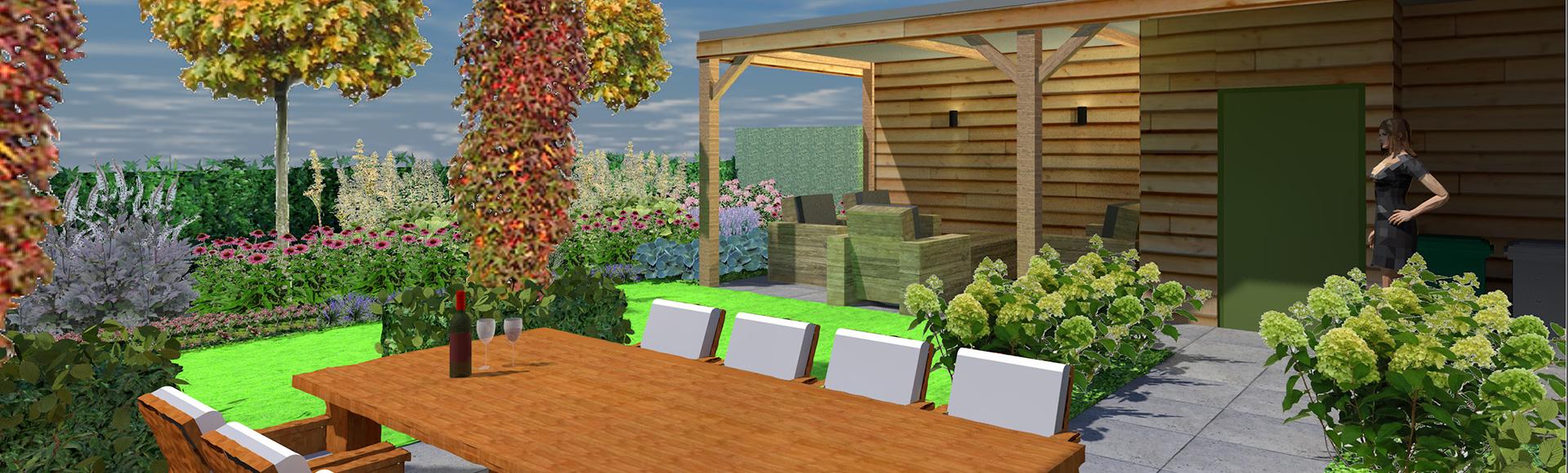 Tuinontwerp beplantingsplan de tuinontwerper for 3d tuin ontwerpen